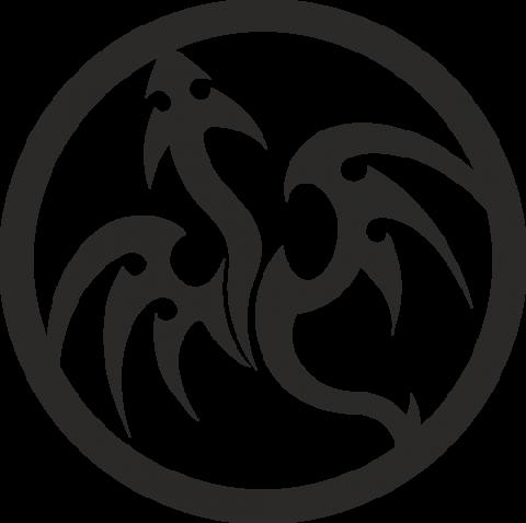 Стикер Дракон 3