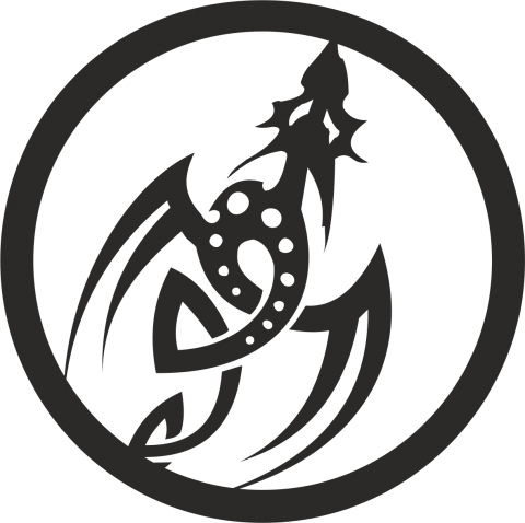 Стикер Дракон 8