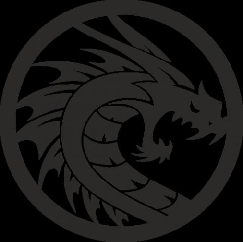 Стикер Дракон 17