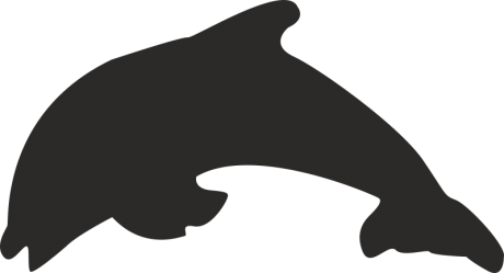 Стикер делфин