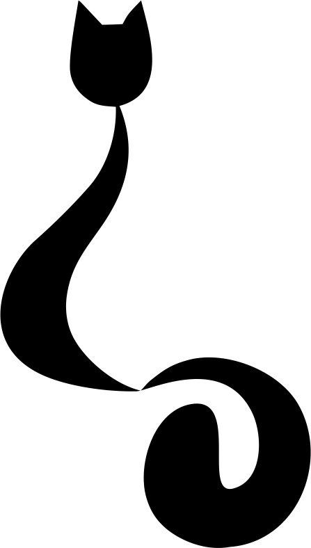 Стикер Котка