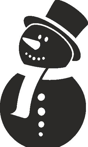 Стикер Снежен човек