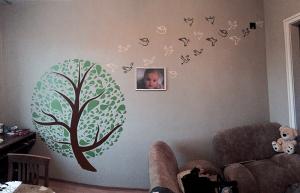 Декорация стена